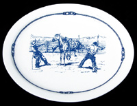 CB200 Cowboy Blu - Large Oval Steak Plate - Product Image