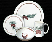 Cabin Collection rustic dinnerware place setting
